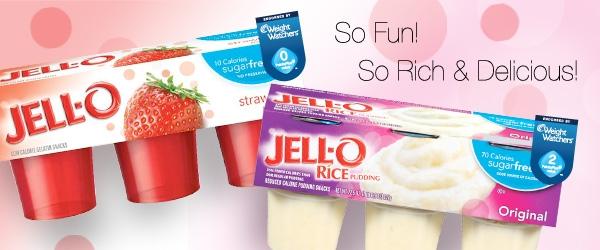 JELL O low calorie gelatin snacks