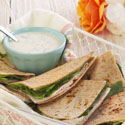 Turkey Ranch Quesadillas