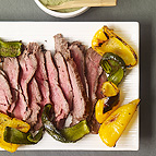 Broiled Steak and Peppers