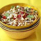 Brown Rice and Bulgur Salad