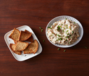 Caramelized Onion Dip with Everything Pita Chips