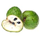 Green Exotic Fruits Cherimoya