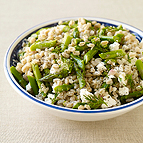 Farotto with Asparagus, Feta and Dill