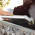 Cool cookout tools for Motorized grill brush with steam cleaning power