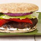 GrilledPortobello Burger Basil Mayo