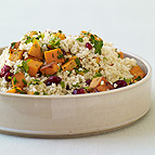 Millet Pilaf with Cranberries, Sweet Potatoes and Thyme