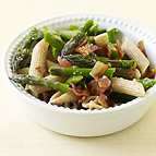 Penne with Asparagus and Bacon