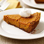 Pumpkin Pie with Graham-Cracker Crust