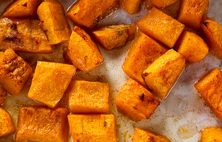 Sunday in the Kitchen with Mark & Bruce: Oven-Roasted Pumpkin