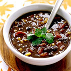 spicy black bean soup we pureed some of the beans in this recipe to ...