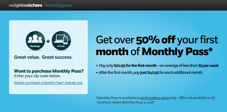 Get over 50% off your first month of monthly pass