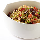 Wheat Berry Salad with Tomatoes and Olives