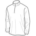 Half-zip shirt