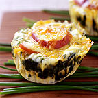 Bacon Egg and Spinach Breakfast Stacks