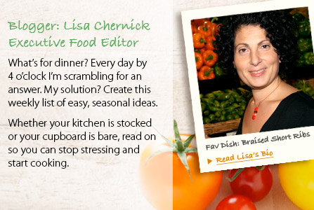 Blogger Lisa's excutive food editor