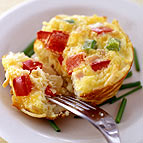 Individual Ham Cheese and Veggie Frittatas