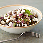 Lentil Salad with Fresh Mint and Goat Cheese