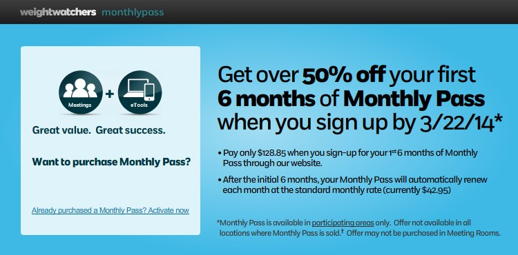 Get over 50% off when you prepay for your first 6 months of Monthly Pass