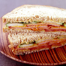 Picture of a turkey club sandwich