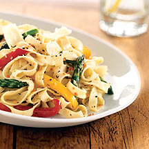 Fettuccine with Fresh Vegetables