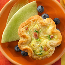 Breakfast Biscuit Quiches
