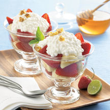 Strawberry Banana Cottage Cheese Parfait