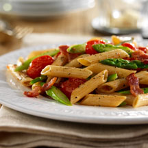 Whole Grain Penne with Asparagus and Prosciutto