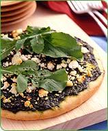 Basil Arugula and Goat Cheese Pizza