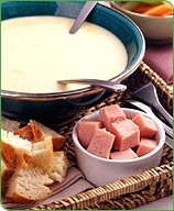 Warm Beer and Cheese Fondue