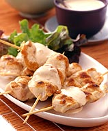 Grilled Chicken Skewers with Satay Sauce
