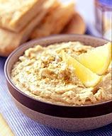 Cumin Pita Wedges with Spicy Hummus