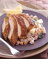 Indian Chicken With Spinach, Potatoes and Chickpeas