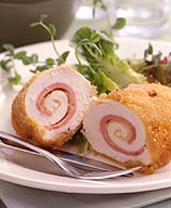Rolled Chicken Cordon Bleu