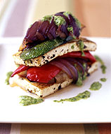 Roasted Vegetable and Tofu Napoleon