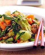 Vegetable-Peanut Stir-Fry