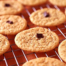 Peanut Butter Cookies with Chocolate Centers