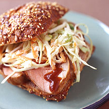 BBQ Pork Sandwich with Homemade Slaw