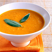 Ginger Scented Apple Squash Soup
