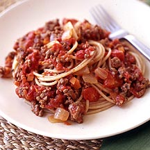 Spaghetti with Tomato-Meat Sauce