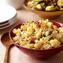 Image of roasted cauliflower with parmesan cheeese