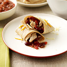 Image of chicken burritos