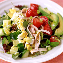 Cobb Salad with Flaxseed Oil Dressing