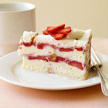 Frozen Strawberry Layer Cake