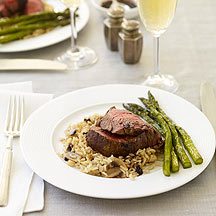 Image of beef, asparagus and rice