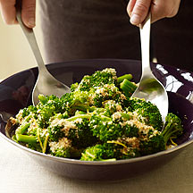 Broccoli with Lemon Garlic Crumbs
