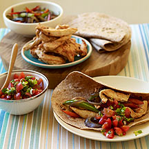 Image of chicken fajitas