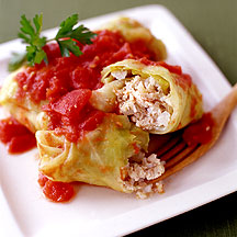 Turkey Stuffed Cabbage Leaves