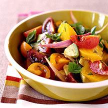 Tomato Avocado and Golden Beet Salad