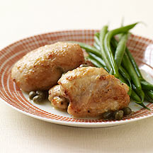 Image of chicken with lemon and capers