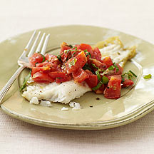 Image of sauteed flounder with tomatoes
